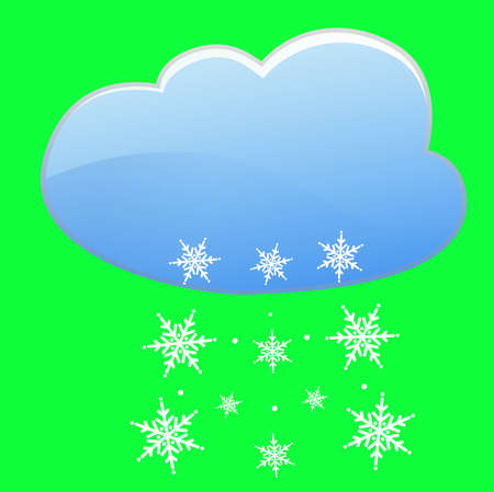 cloud and snow weather nature season cold winter illustration