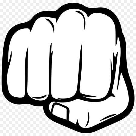 fist bump hand punch illustration