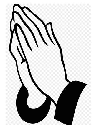 praying hands prayer faith belief illustration