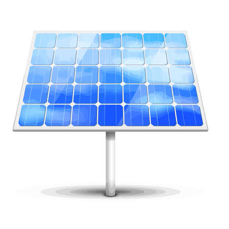 solar panel green energy sunlight ecology eco illustration Archivio Fotografico - 110670903