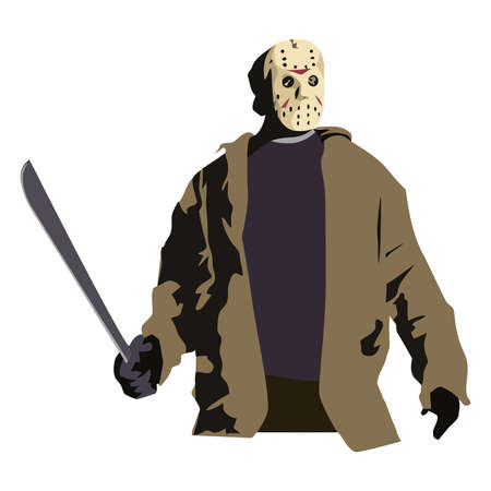 Jason halloween terror killer scary mask illustration