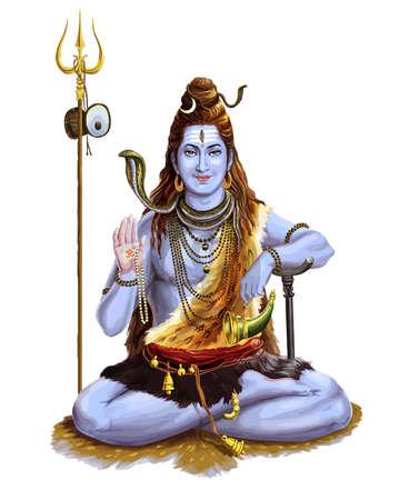 maha shivaratri lord god festival hinduism traditional spiritual illustration