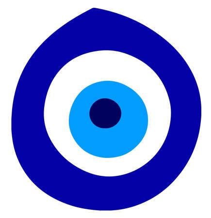 evil eye greece nazar amulet traditional protection belief illustration Banque d'images - 115672323