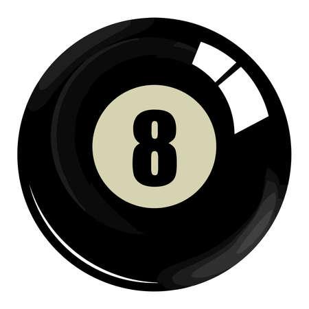 8 ball pool eight billiard pool black white snooker illustration