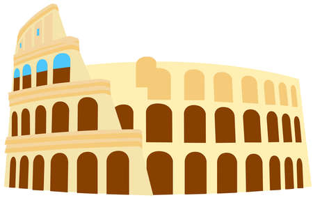 The Colosseum monument Rome Italy  illustration