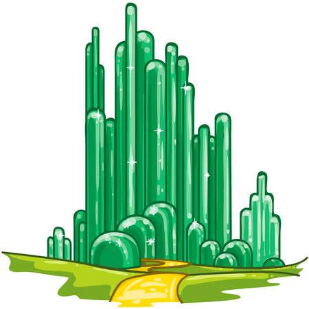 wonderful wizard of oz emerald city fantasy fairytale illustration Stock Photo