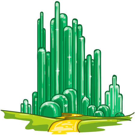 wonderful wizard of oz emerald city fantasy fairytale illustration Stockfoto