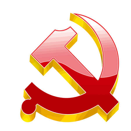 communism socialism union soviet revolution red yellow illustration