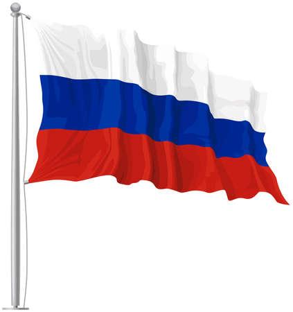 russia flag mast waving patriotism freedom illustration 写真素材 - 115672793