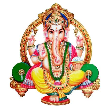 seated  Ganesha hindu lord faith mythology bless god illustration  Asia