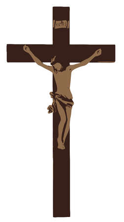 brown wooden christian cross crucifixion jesus  holy pray illustration