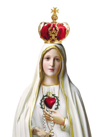 immaculate heart mary our lady fatima miracle illustration Foto de archivo - 115673210