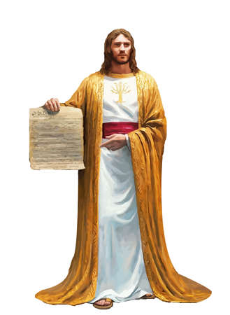 Jesus Christ ten commandments faith holy heaven  spirit illustration Banco de Imagens