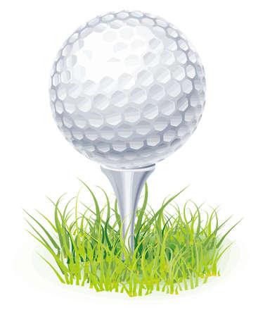 clip golf ball grass hobby sport illustration Stock Photo
