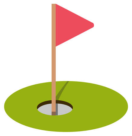golf hole grass course  sport game illustration