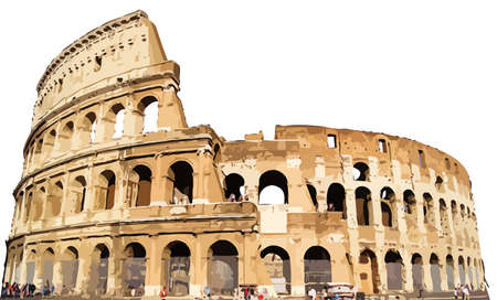 The Colosseum  ancient monument Rome Italy illustration Stock Photo