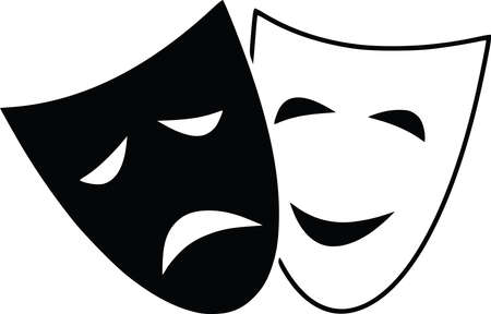 tragedy drama theatre comedy mask expression illustration