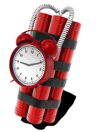 bomb dynamite red color clock timer countdown illustration