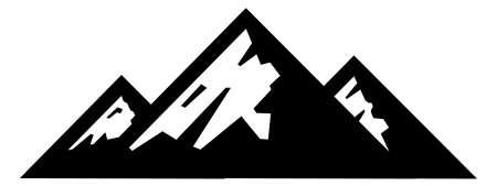 mountains sierra hill alps rock peak scene silhouette illustration