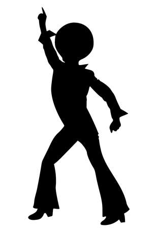 dance disco nightclub man music silhouette illustration Stock fotó