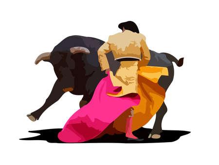 bullring spanish bullfighting person animal culture show illustration
