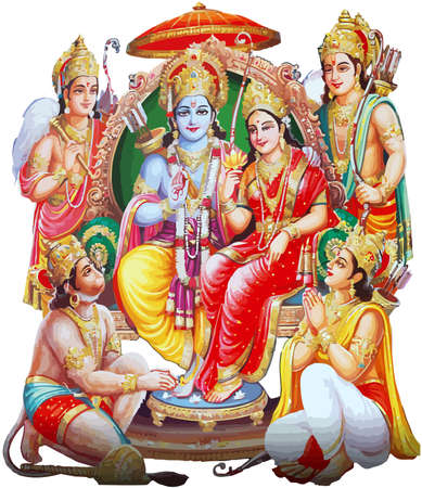Ganesha temple hindu lord faith Maha Shivaratri mythology  illustration Stock Photo