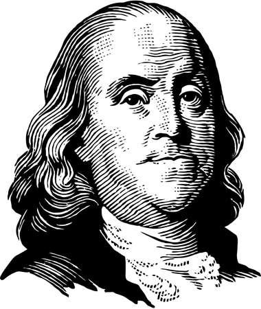 benjamin franklin national memorial president dollar america illustration