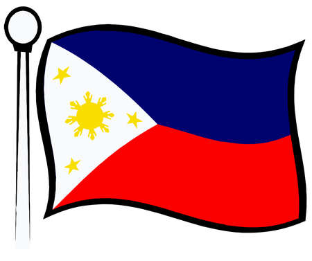philippines flag patriotic independence day national illustration Stock Photo
