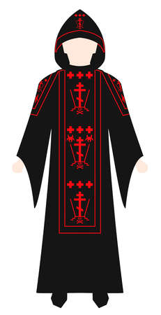 vestment orthodox church priest illustration