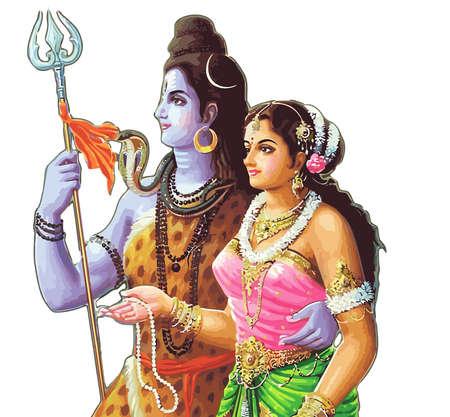 parvati yashoda  lord krishna festival hinduism culture mythology illustration Stock Photo