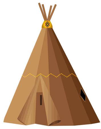 wigwan apache indian american culture tribal illustration