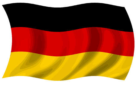 german flag wind waving national patriot illustration Stockfoto