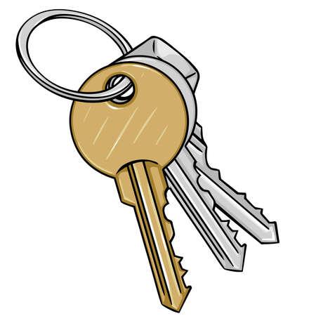 keys security object property safety door illustration