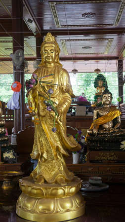 Guanyin mercy goddess faith chinese golden holy