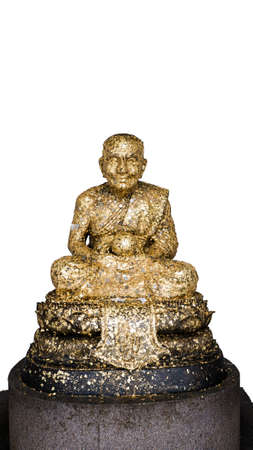 Huay Mongkot temple gold statue ancient faith white