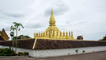 That Luang gold temple Laos landmark corner