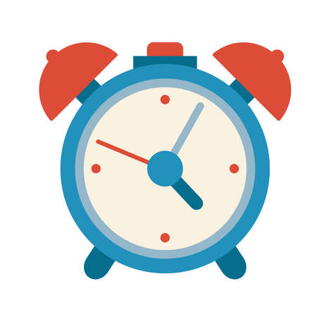 alarm clock blue wake illustration classic bell old