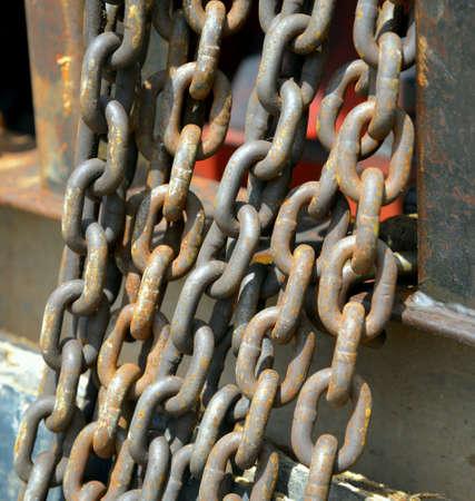 oxidado: Rusty cadena