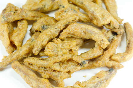 appetize: Crispy fried anchovies fish. Stock Photo