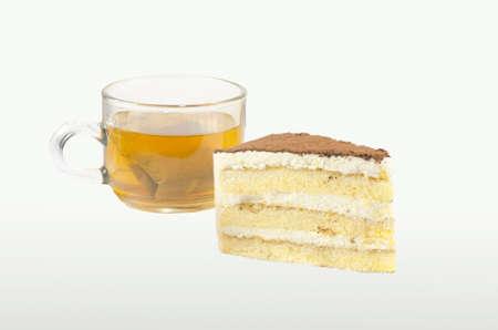 cofffee: Tiramisu Cake with hot tea