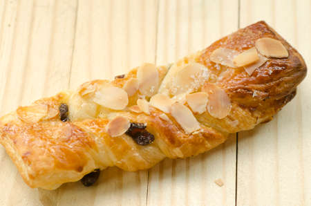 twist: twist bread with almonds and raisins Stock Photo
