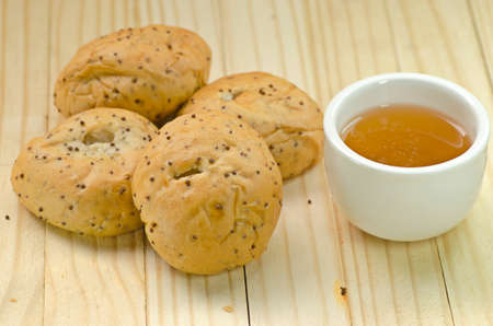 black sesame: Whole Grains  Bread with black sesame closeup