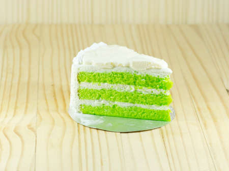 chiffon: pandan layers Chiffon cake with white cream