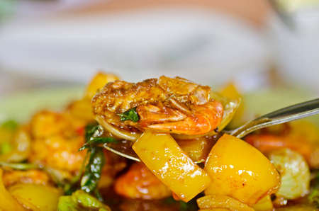 chillies: prawns fried with chillies