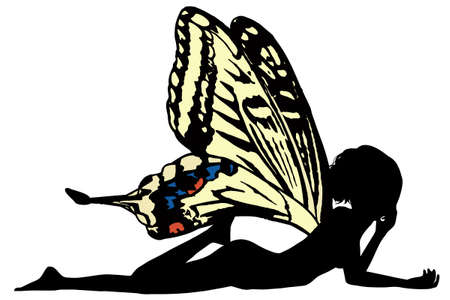 donna farfalla: fata