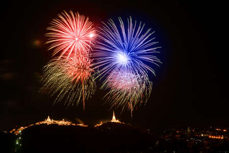 A firecracker is a small explosive device primarily designed to produce a large amount of noise.