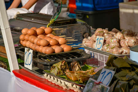 Thailand has many street food for people to choose from. Consumers can choose to buy as they please. Reklamní fotografie