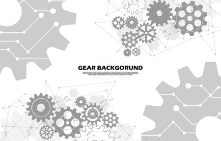 Abstract gear symbols pattern Hi-tech Technology background EP.7.Used to decorate advertisements, signs or other forms of work according to the user