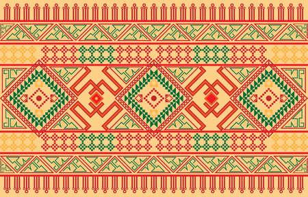 Geometric ethnic oriental Fabric pattern background.