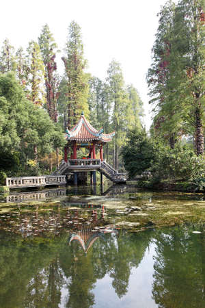 chinese traditional small pavilion in the garden Stock Photo - 8345550